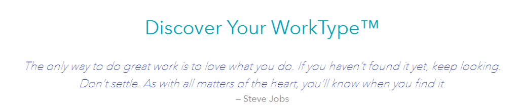 Discover your WorkType